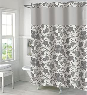 Blush NEW Hookless Waffle Shower Curtain with Fabric Liner