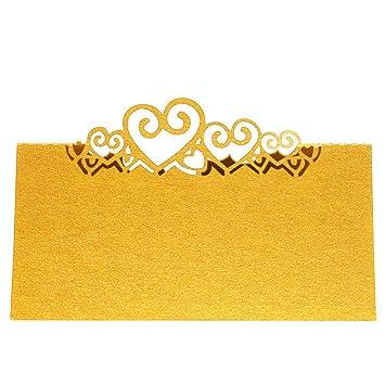 25 Tischkarten Hochzeit Herz Namen Anzahl Tischkarte Ivory