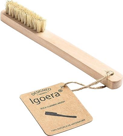 Igoera Premium Cepillo Boulder | Cepillo de Escalada Hecho de Madera de Cerezo para Limpiar Las sujeciones, Las Barras y los Orificios para los Dedos ...