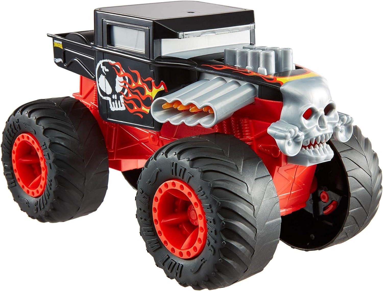 Hot Wheels Monster Trucks - Vehículo Bone Shaker 1:24, coches de juguetes para niños +3 años (Mattel GCG07) , color/modelo surtido