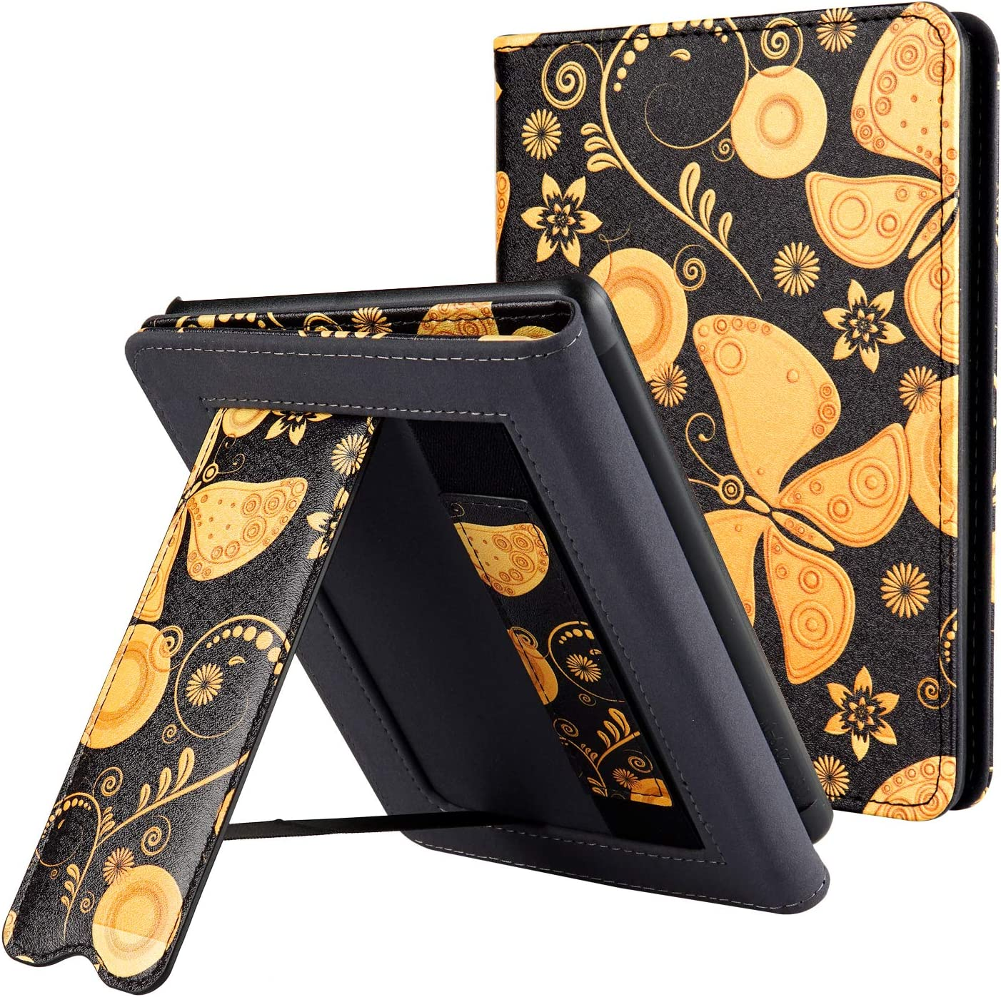 Hand Strap Feature CoBak Kindle Paperwhite Case with Stand ONLY Fits All New Kindle Paperwhite 10th Generation 2018 Released,Floral Durable PU Leather Smart Cover with Auto Sleep Wake