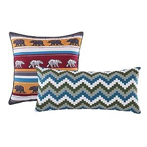 Greenland Home Black Bear Lodge Pillow Set, Brown