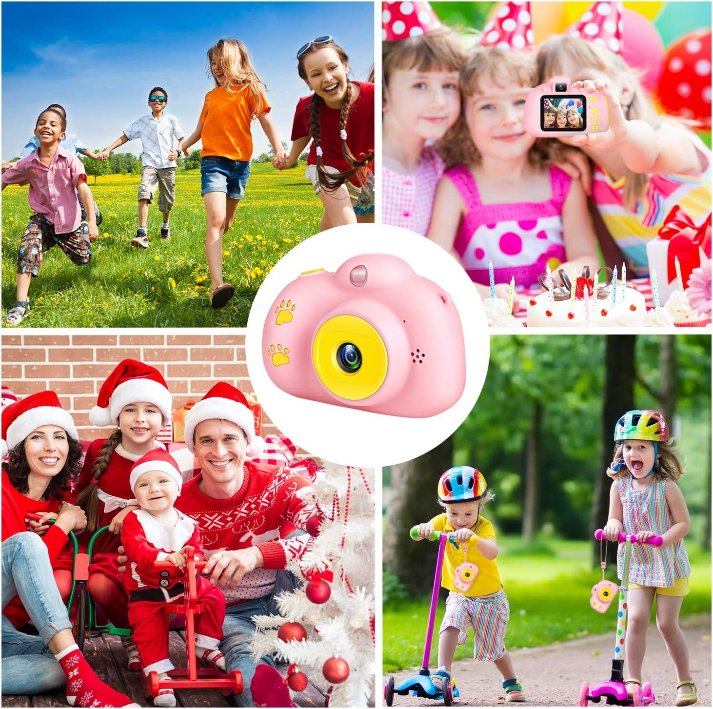 Kids Camera 1080P Selfie 8MP Dual Camera Children Digital Cameras Toys for 3-12 Age Girls and Boys Best Birthday Kids Gifts Toddler Shockproof Camera with Video Recorder 2.0 IPS 32GB SD Card Blue