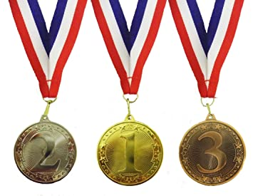 single set of 1st 2nd and 3rd place medals amazon co uk sports