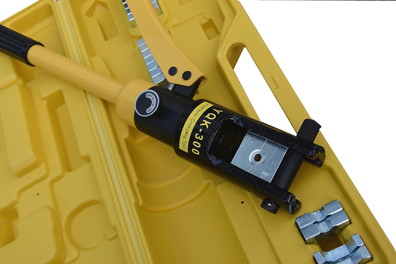 Docooler Crimpadora hidr/áulica el/éctrica o herramienta prensa para cables 10-120mm/²