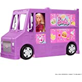 Barbie GMW07 Fresh'n' Fun Food Truck Opens to Cooking Areas with 30+ Realistic Play Pieces: Menu Board, Pots, Utensils…