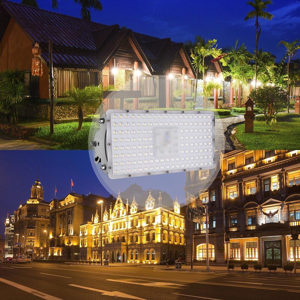 Viugreum Foco Módulo Super Brillante 100W,Focos LED Exterior Impermeable IP65, Reflector Lámpara para Exterior/Interior/Jardín/Patio, SMD2835 3200K Blanco Cálido 100w Blanco Frío