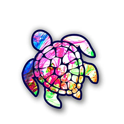 Vinyl Junkie Graphics Sea Turtle Decal/Sticker (Color Burst): Automotive