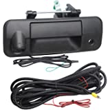 NDRUSH Tailgate Handle Bezel with Backup Camera 150 Degree Rear View Reverse Cameras Compatible with Tundra 2007-2013