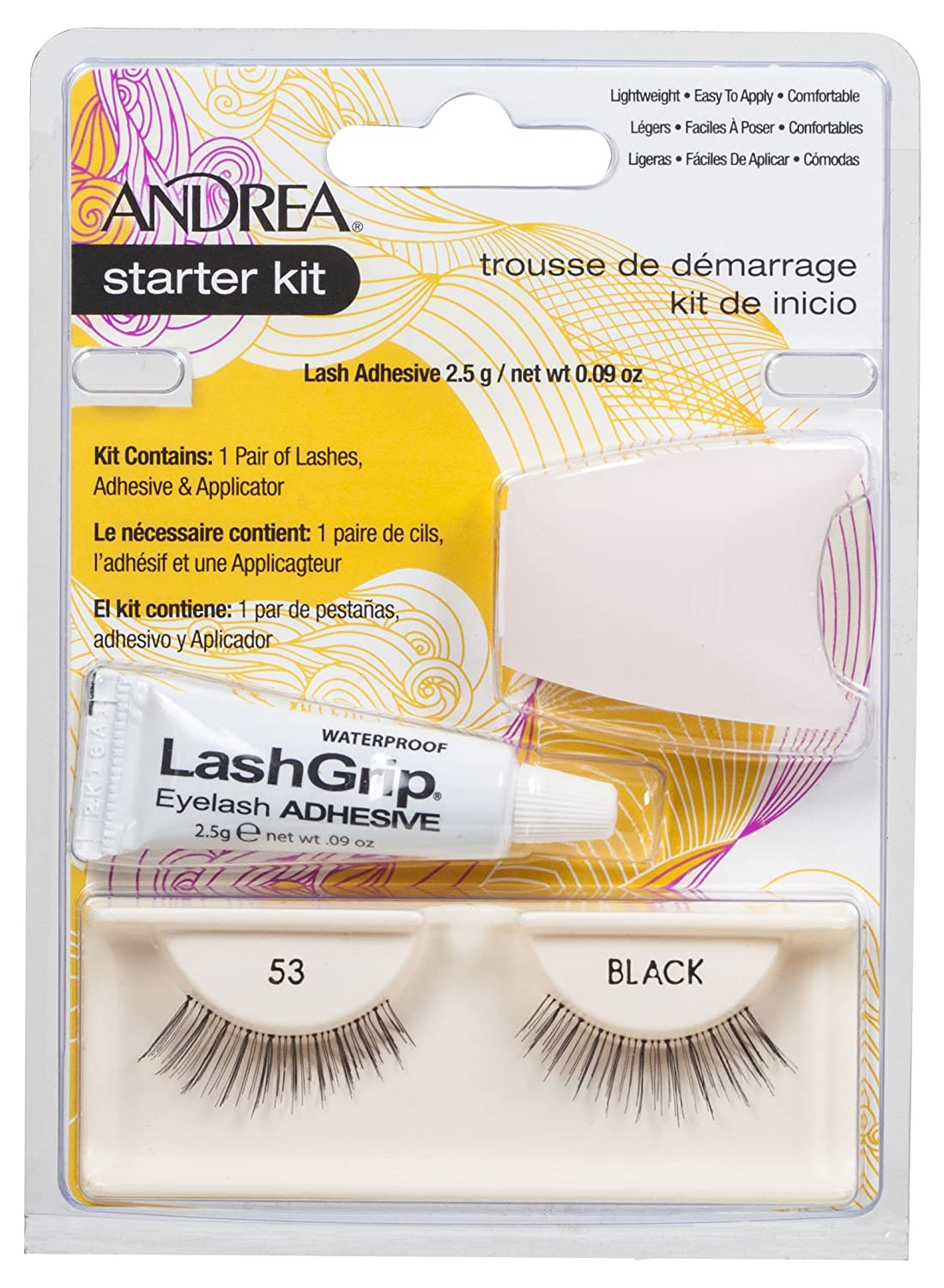 Andrea Strip Lashes Starter Kit No. 53 1 Kit (Pack of 2)
