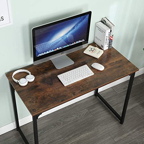 Computer Desk 39″ Simple Industrial Style Office Desk Homework Table Laptop Table Workstation Study Table