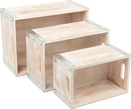 small foot company 11383 Caja Estilo Industrial, de Madera, Cajas ...