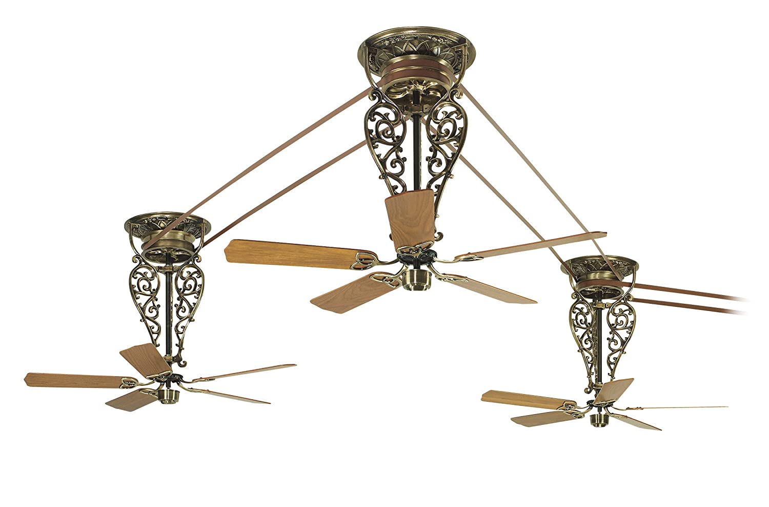 Fanimation FP510AB Bourbon Street Short, Antique Brass, Motor Only   Pulley  Ceiling Fans   Amazon.com