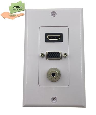 cerrxian HDMI VGA 3,5 mm Audio-Stereo-durch: Amazon.de: Elektronik