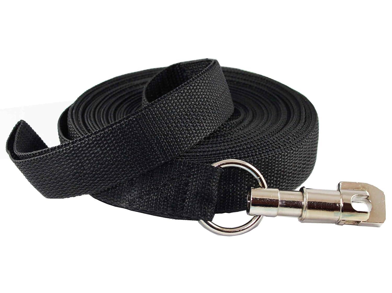 Dog Leash 1.2  Extra Wide Nylon 30 Feet Long for Training Secure Locking Snap
