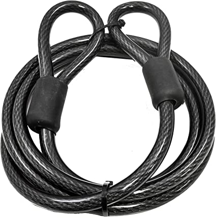Heavy Duty Extra Long Lock Extender Anti Theft Coil Cable Bike Cycle Security