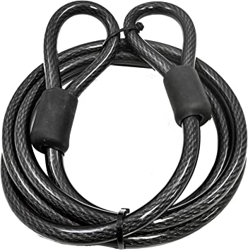 Vinyl Coated Braided Steel Lumintrail 12mm 1//2 inch Heavy-Duty Security Cable