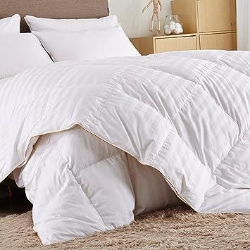 puredown comforter goose down fill power xlcotton shell 500tcstripe