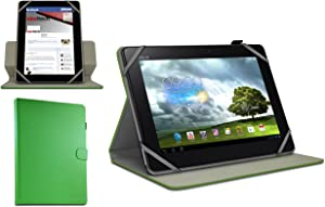Navitech 10.1 Inch Green Faux Leather Rotational Case Cover Compatible With The Lenovo Yoga Tablet 10 / Lenovo IDEATAB S6000 TABLET / Lenovo Miix 10 / Lenovo THINKPAD TABLET 2 / Lenovo IDEATAB LYNX / Lenovo THINKPAD HELIX