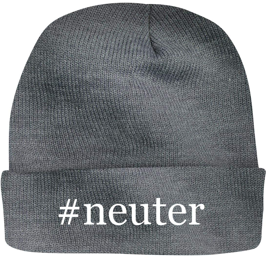 SHIRT ME UP #Neuter - A Nice Hashtag Beanie Cap, Grey, OSFA by SHIRT ME UP
