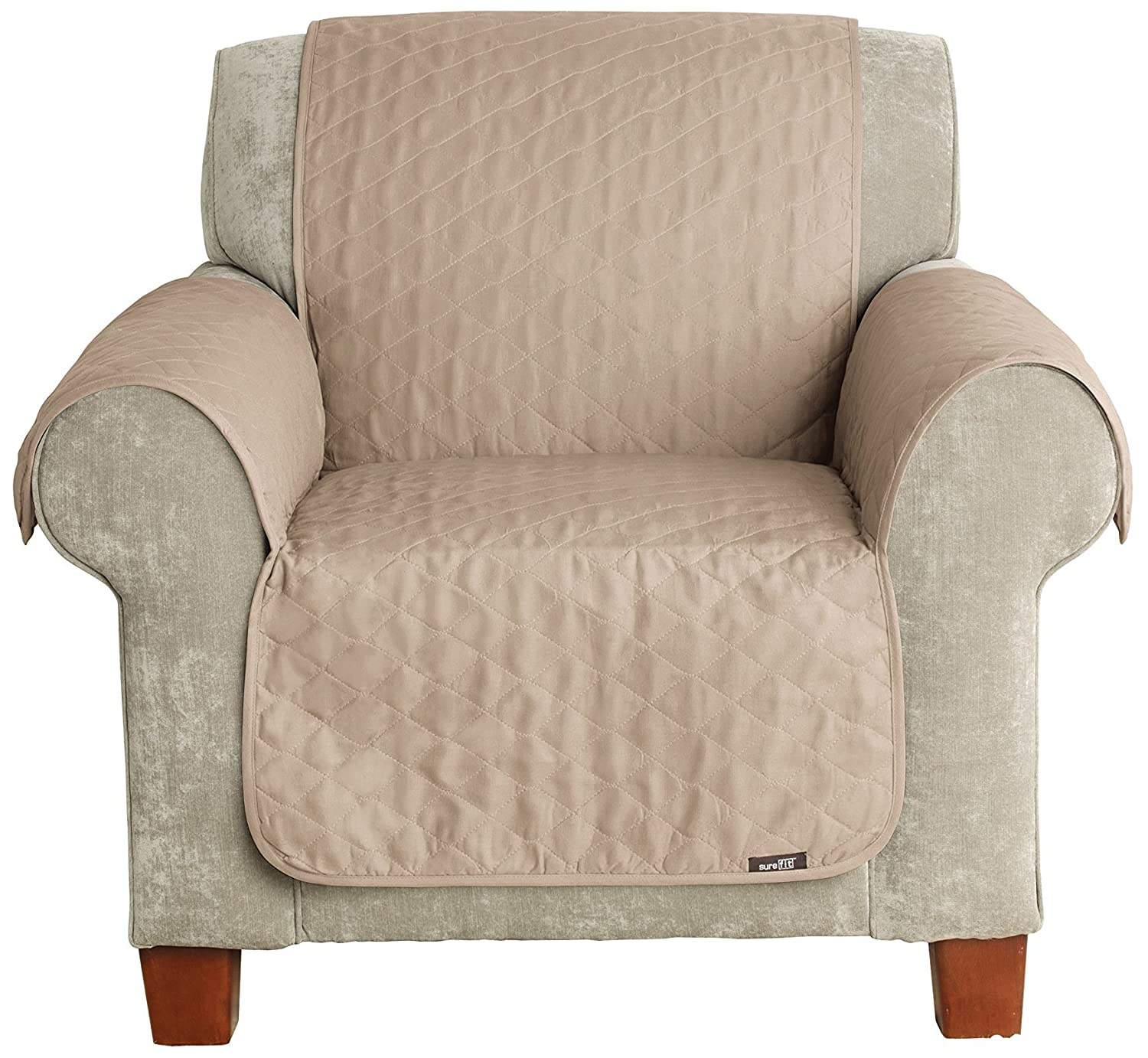 Sure Fit Furniture Friend Pet Throw - Chair Slipcover- Linen (SF37505)