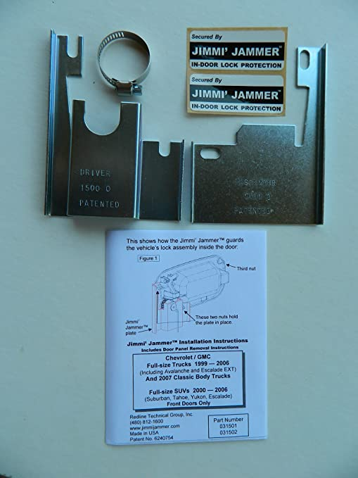 jimmi jammer in-door lock protection front doors silverado sierra 1500  99-06 &