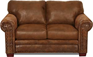 American Furniture Classics Model Buckskin Loveseat love seat Pinto Brown