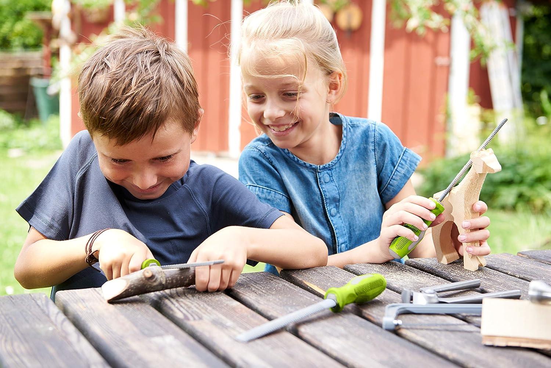 Terra Kids Holzraspel-Set ergonomisch geformte Griffe grobe Raspeln f/ür Kinder je einmal rund ideal f/ür den Terra-Kids Werkzeugkasten-Bausatz HABA 304342 halbrund und flach