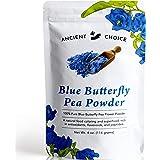 Ancient Choice - Butterfly Pea Flower Powder (4 ounce) | Blue Matcha Tea | Ceremonial (Highest) Grade | Adaptogenic Raw Culin