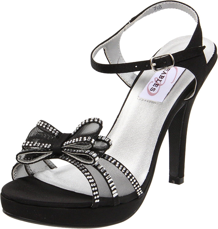 Dyeables Women's Pippa Platform Sandal B005WQO6MA 9 B(M) US|Black Satin