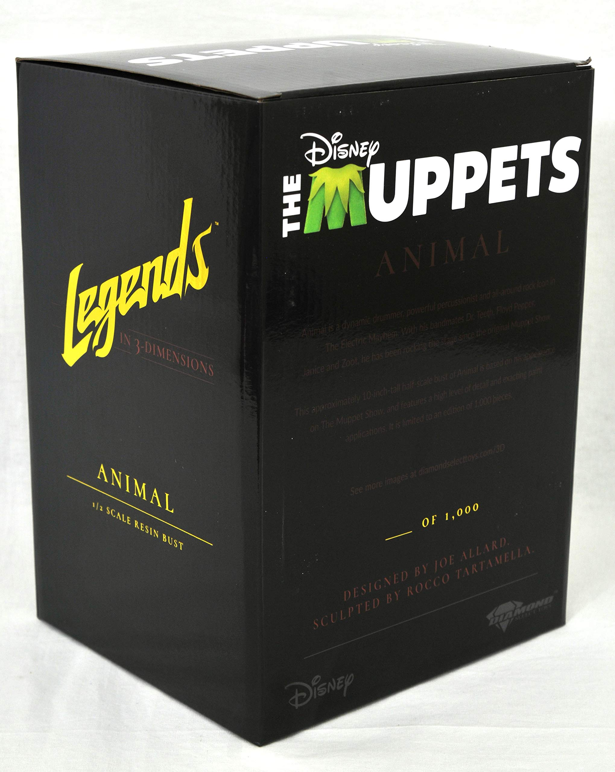 DIAMOND SELECT TOYS OCT182226 Select Toys Legends in 3-Dimensions: The Muppets Animal 1: 2 Scale Bust, Multicolor by DIAMOND SELECT TOYS (Image #2)