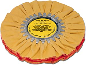 Zephyr AWY 58-8 FC4 Yellow 1 on 1 4 Fast Cut Airway Buffing Wheel