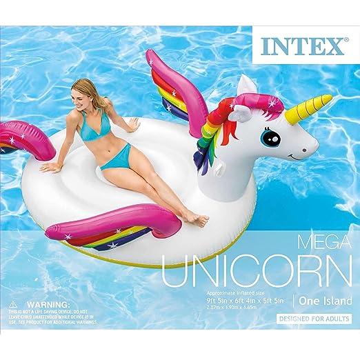 Amazon.com: Intex hinchable Mega Unicorn Island flotador ...