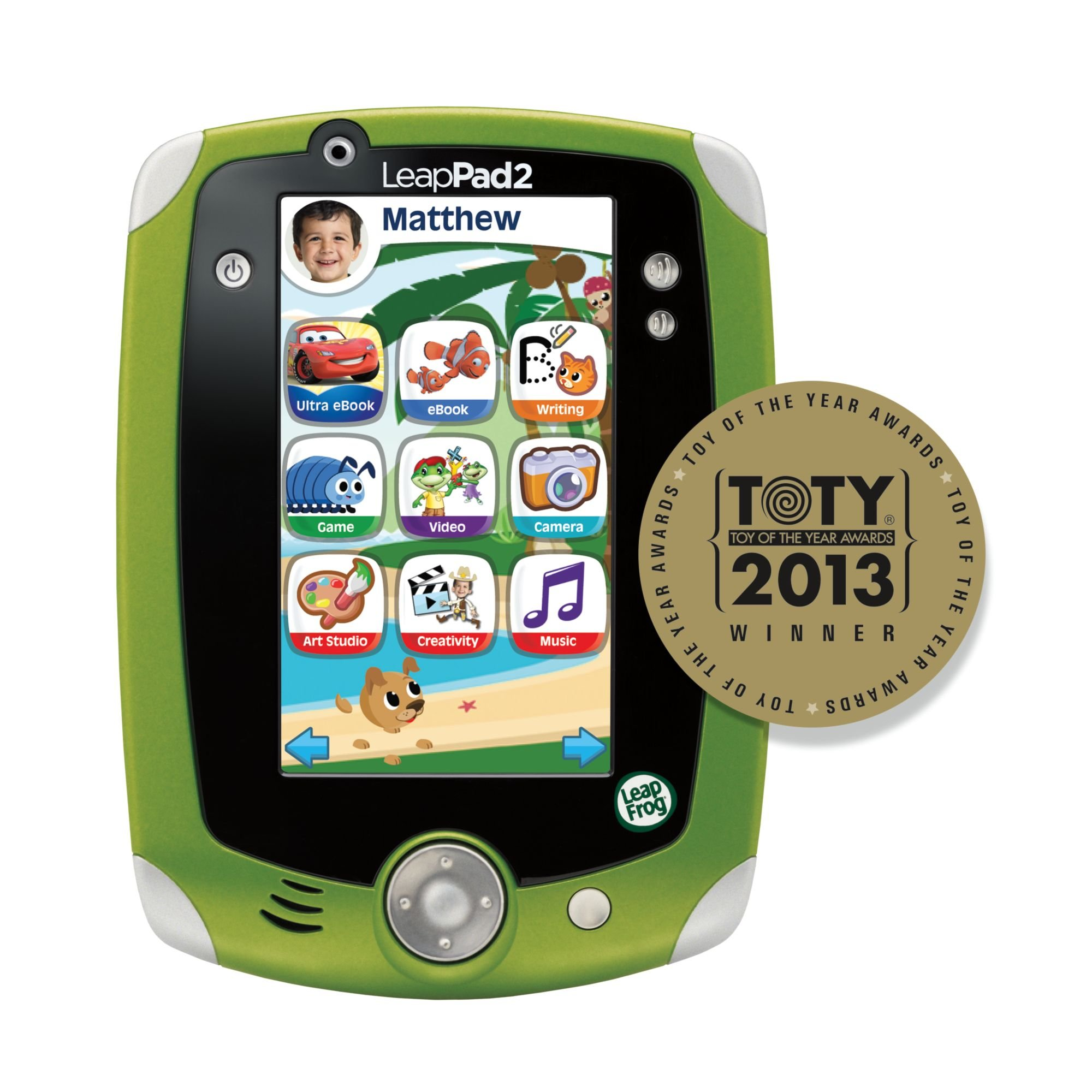 LeapFrog LeapPad2 Explorer Kids' Learning Tablet, Green by LeapFrog (Image #2)