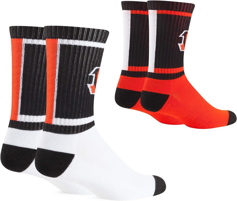 NFL Mens OTS Dasher Sport Sock 2-Pack