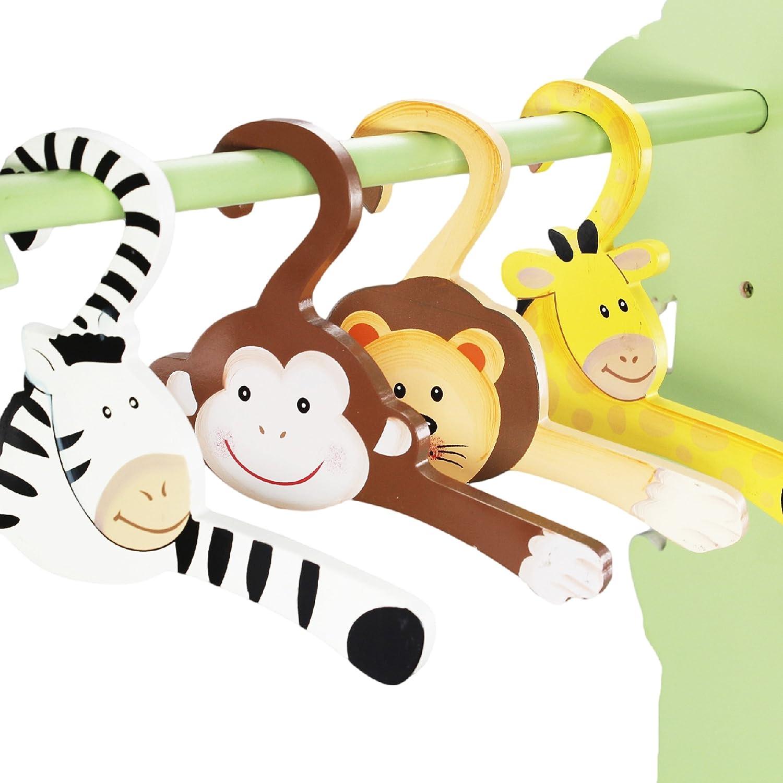 Fantasy Fields Childrens 4 Kids Safari Animal/Kleiderb/ügel aus Holz TD-0045A//1