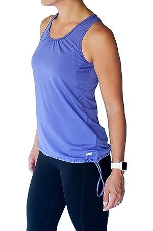 TEMA Athletics Women's Plus-Size Bungee Activewear Yoga Workout Tank Top Gym (2X, Purple)