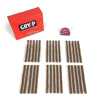Kit 30 mechas GRYYP para reparación de pinchazos en neumaticos tubeless de coche, moto o