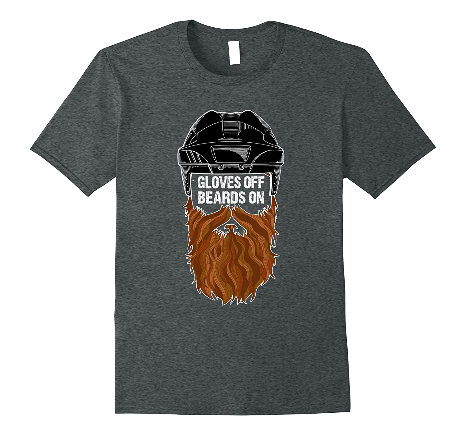 Beards On Gloves Off Ice Hockey Playoff Beard Tshirt-FL