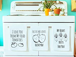 Funny Dishcloths/Tea Towels ~ Discount Mix and Match 3 ~ Funny Kitchen Cloths