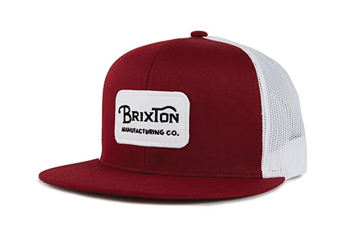 1c0379b2 Brixton Men's Grade MESH Cap, Burgundy/White/Black, O/S: Amazon.ca ...