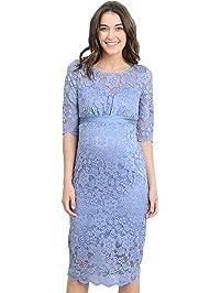 Hello Miz Womenu0027s Baby Shower Floral Lace Maternity Dress