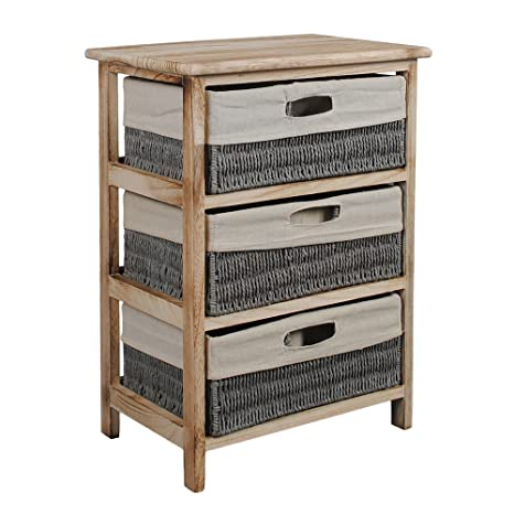 Cómoda en estilo rústico y antiguo, armario estantería en ...
