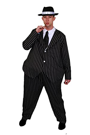 f5b08c05f85a9 ILOVEFANCYDRESS ADULTS 1920 S HOOPED FAT GANGSTER SUIT + HAT TRILBY   FEDORA  PERFECT FOR ANY MAFIA