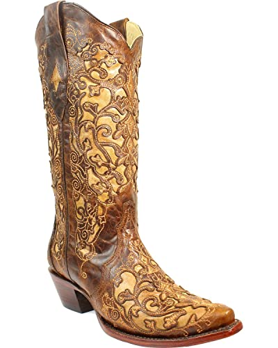 Corral Boots Embroidery Block Heel Boots TQLcM