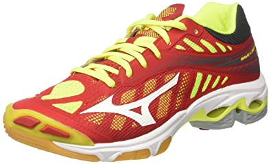 lowest price 94fd8 6cb53 Mizuno Men s s Wave Lightning Z4 Running Shoes Multicolor  (Marsred White safetyyellow ...