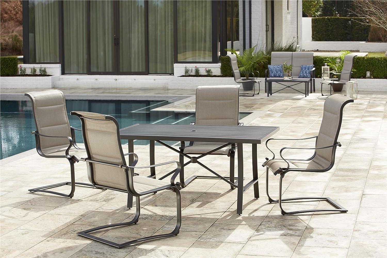 Amazon com cosco outdoor furniture set smartconnect 5 piece gray beige garden outdoor