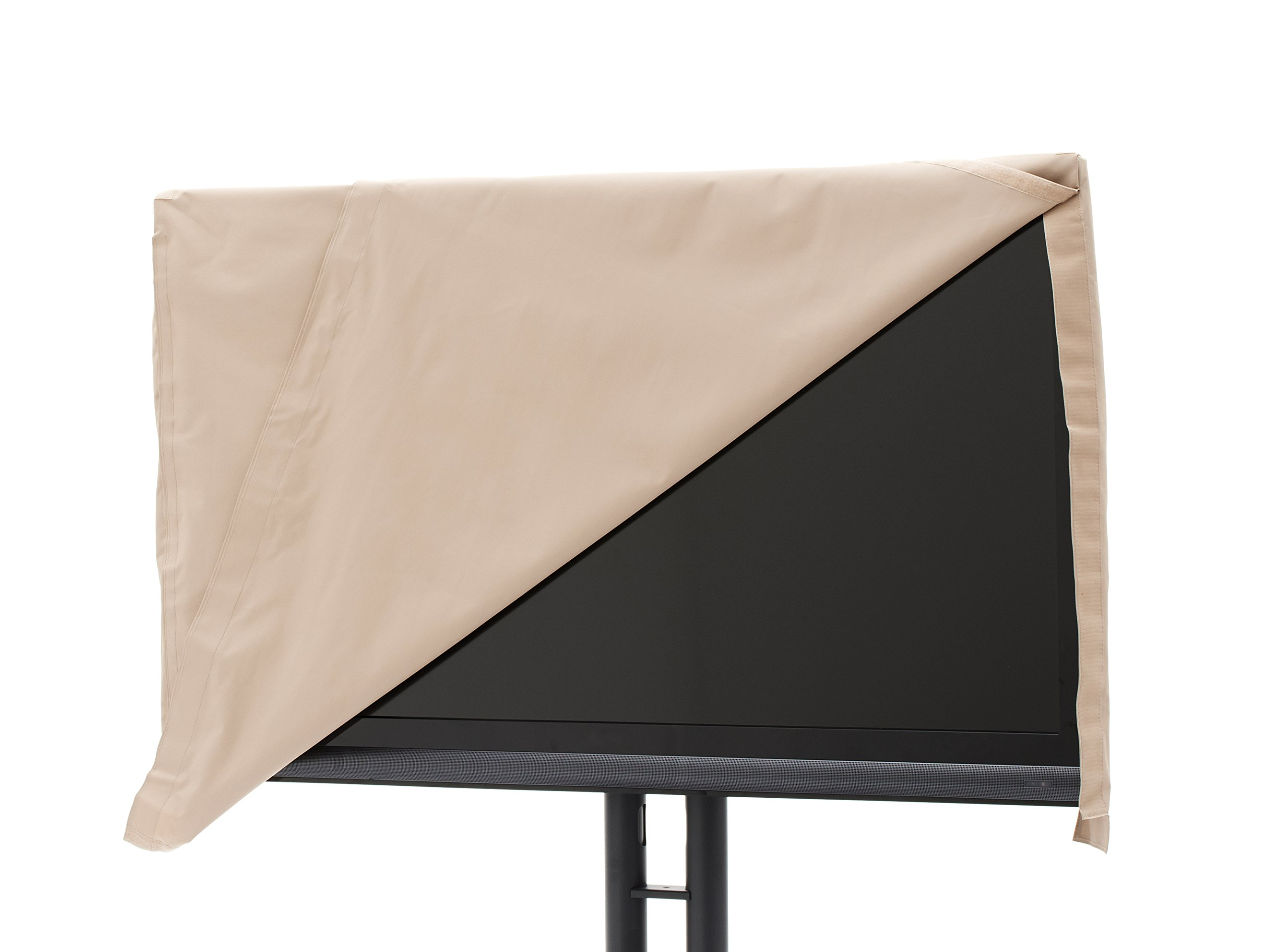 Covermates - Outdoor TV Cover - Fits 36 to 41 Inch TV's - Ultima - 300 Denier Fade Resistant Polyester - Full Coverage - Front Flip Top for Quick Viewing - 7 Year Warranty - Water Resistant - Tan by Covermates