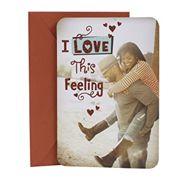 Amazon hallmark mahogany valentines day greeting card for hallmark mahogany valentines day greeting card for romantic partner i love this feeling m4hsunfo Images