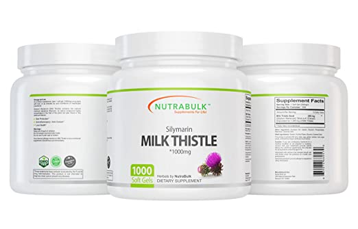NutraBulk Milk Thistle -1000mg Soft Gels 1000 Count